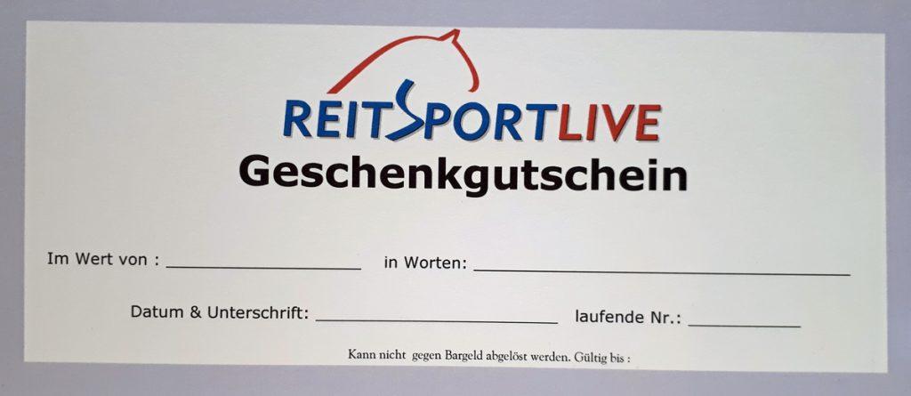 Reitsport Live Geschenkgutschein