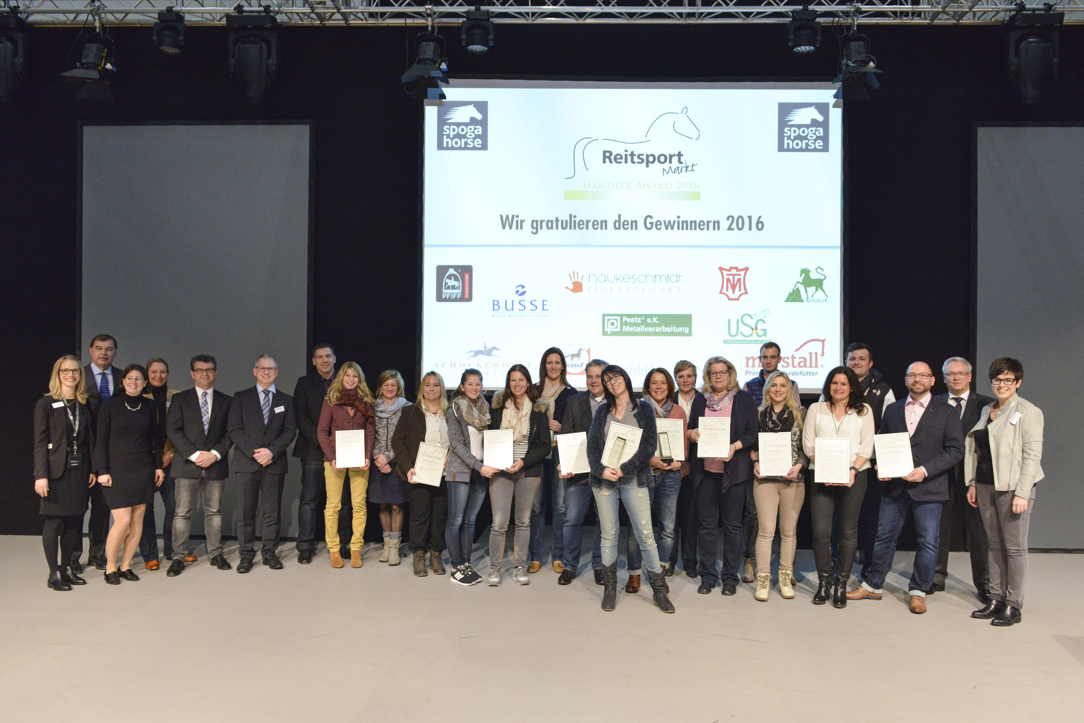 REITSPORT-MARKT Händler Award 2016,, Halle 8